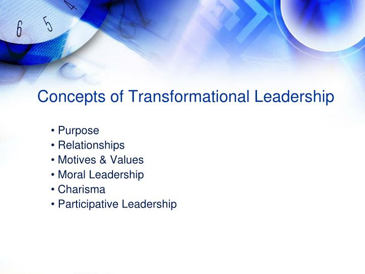 Concepts of Transformational Leadership