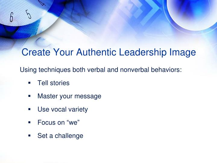 Create Your Authentic Leadership Image