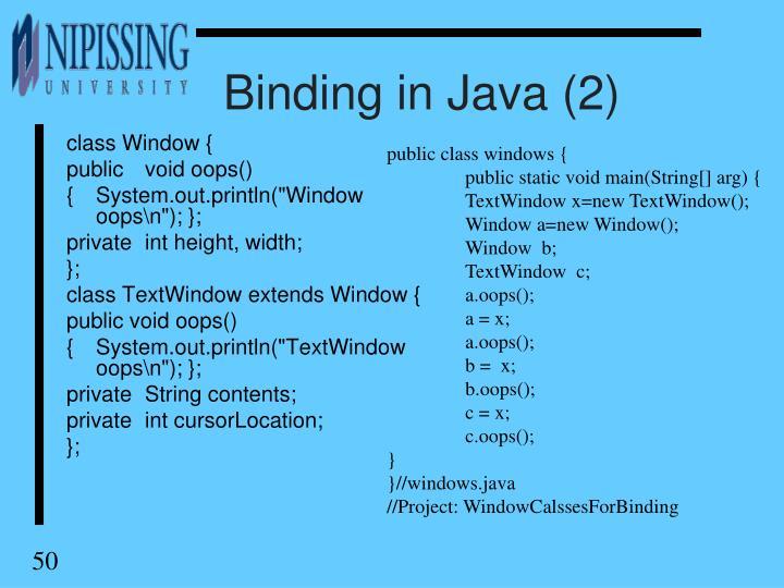 Binding in Java (2)