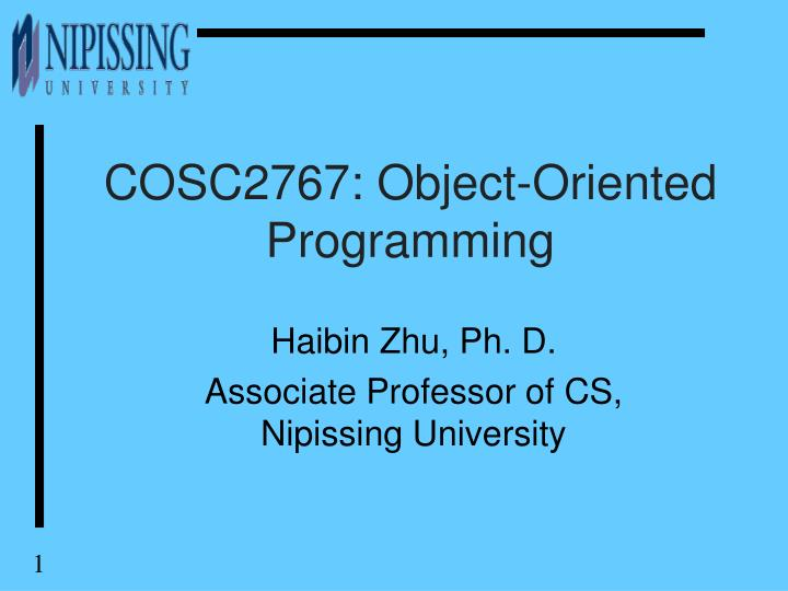 Cosc2767 object oriented programming