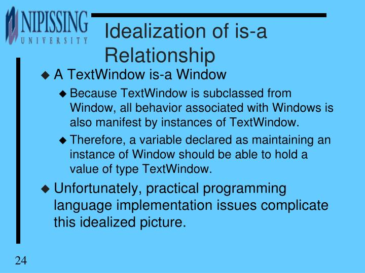 Idealization of is-a Relationship