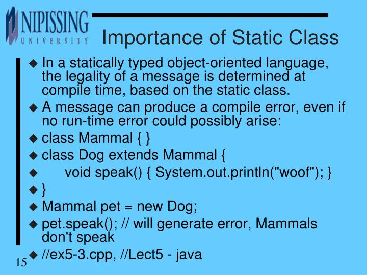 Importance of Static Class