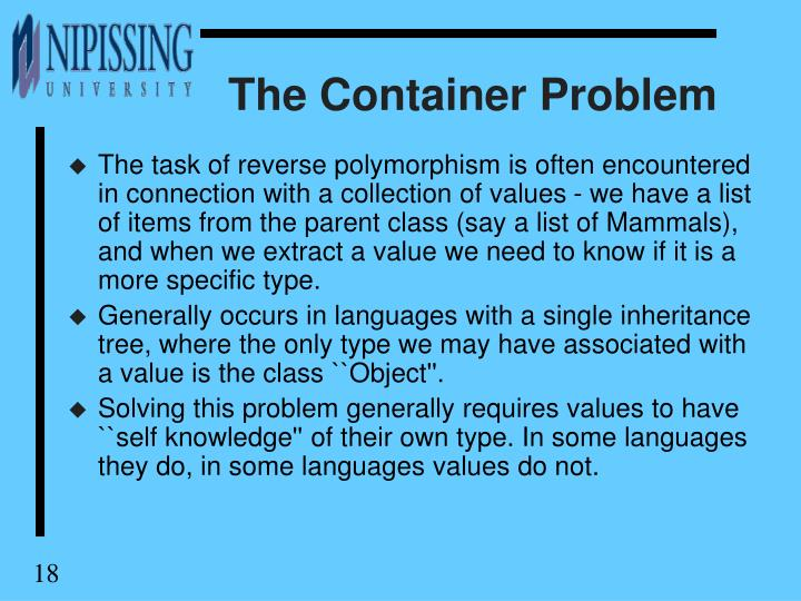 The Container Problem