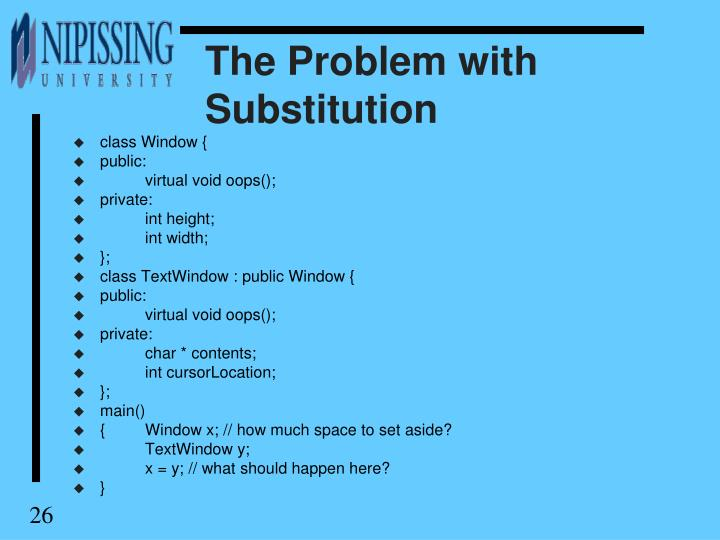 The Problem with Substitution