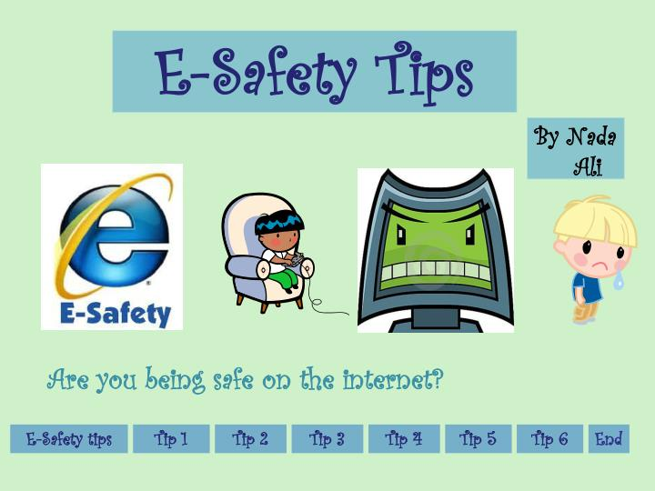 E safety tips