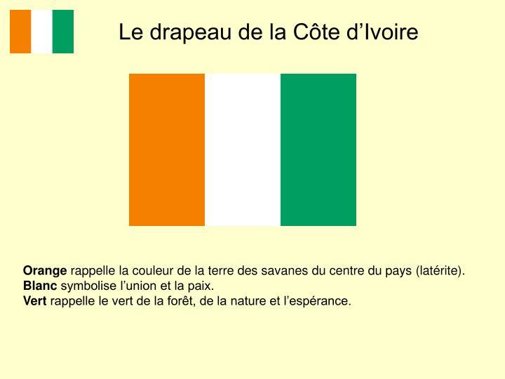 Le drapeau de la Côte d'Ivoire