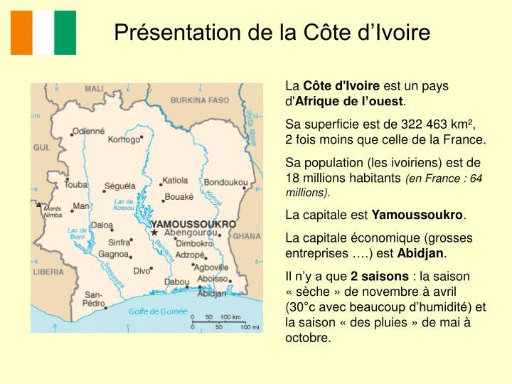 Présentation de la Côte d'Ivoire