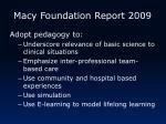 macy foundation report 2009