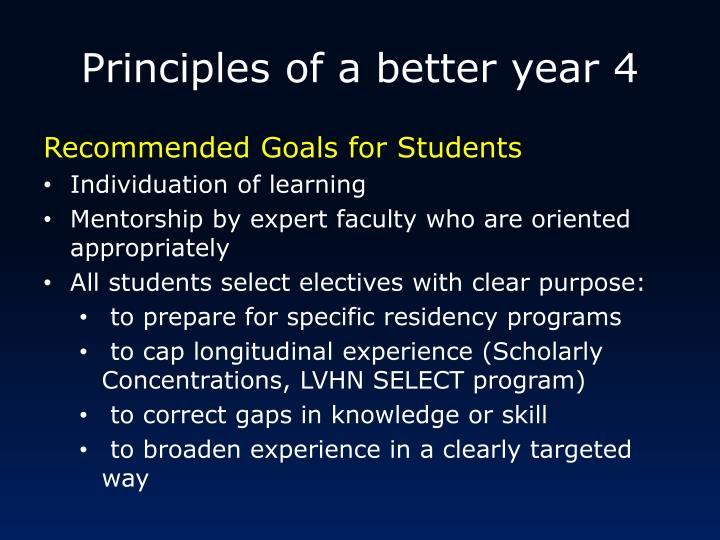 Principles of a better year 4
