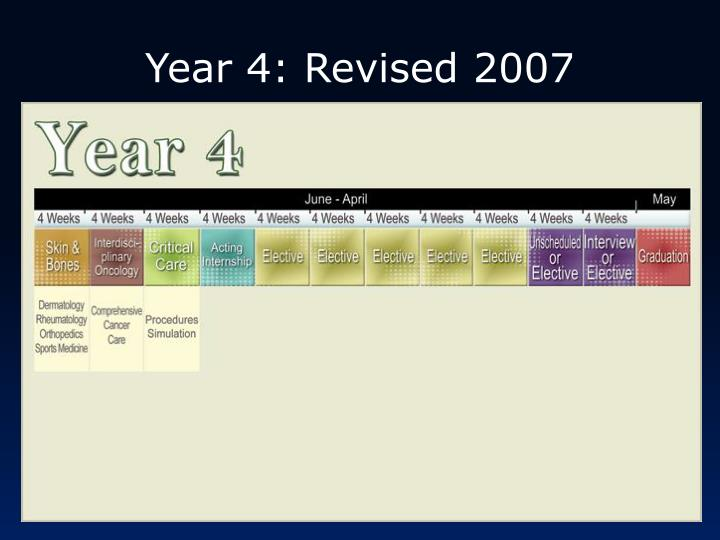 Year 4: Revised 2007