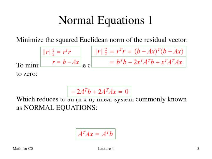 Normal Equations 1