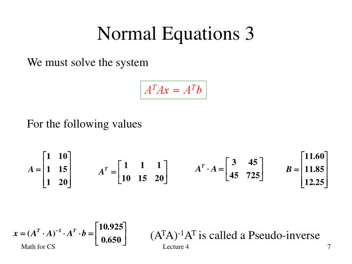 Normal Equations 3