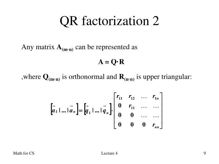 QR factorization 2