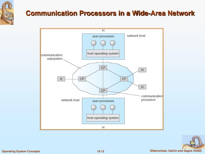 Communication Processors in a Wide-Area Network