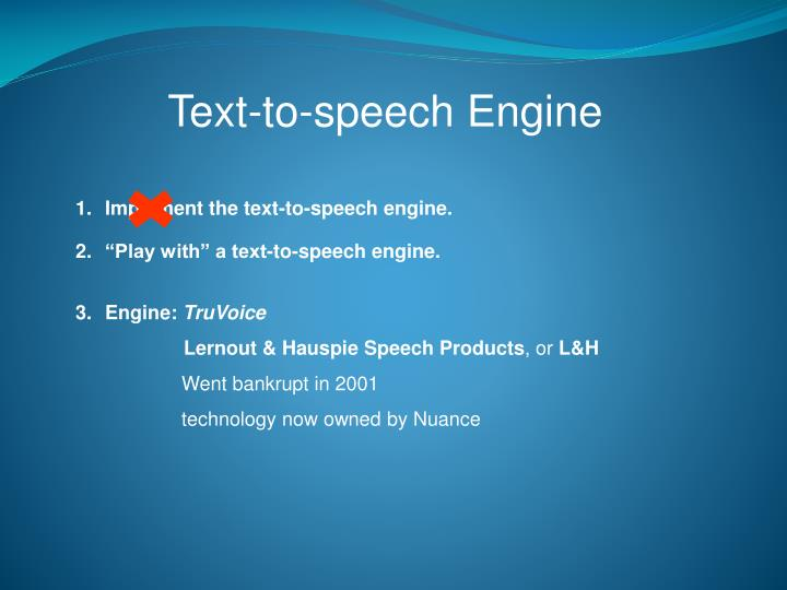Text-to-speech Engine