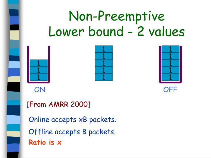 Non-Preemptive