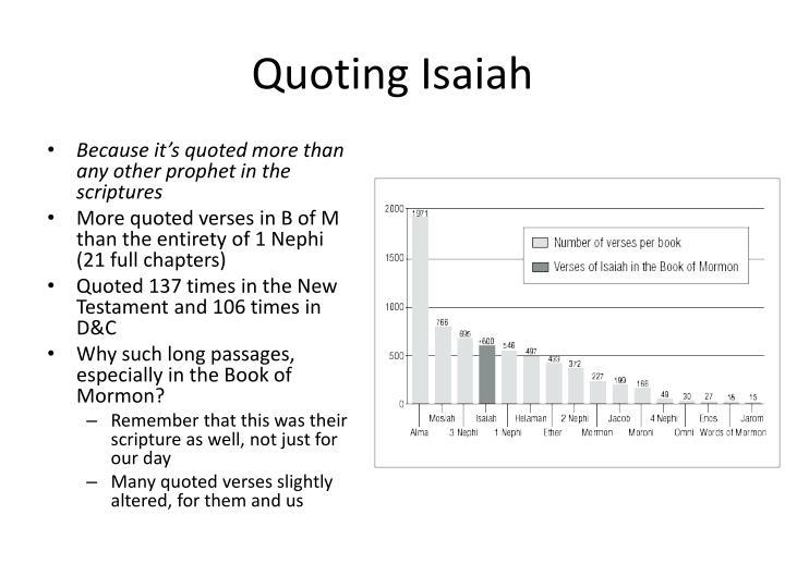 Quoting Isaiah