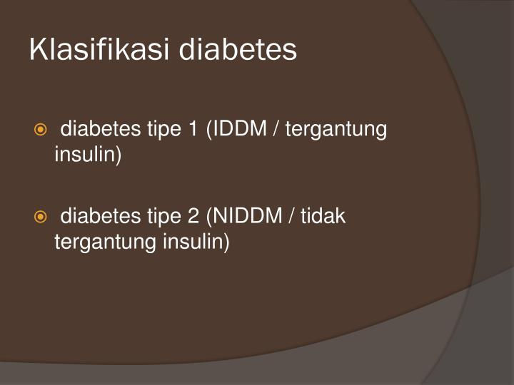 Klasifikasi diabetes