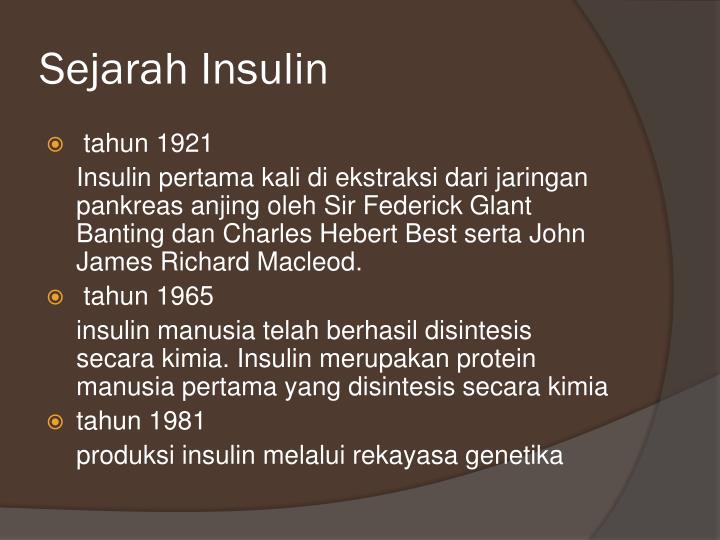 Sejarah Insulin