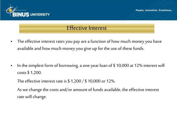 Effective Interest