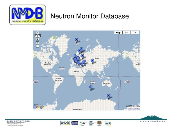 Neutron Monitor Database