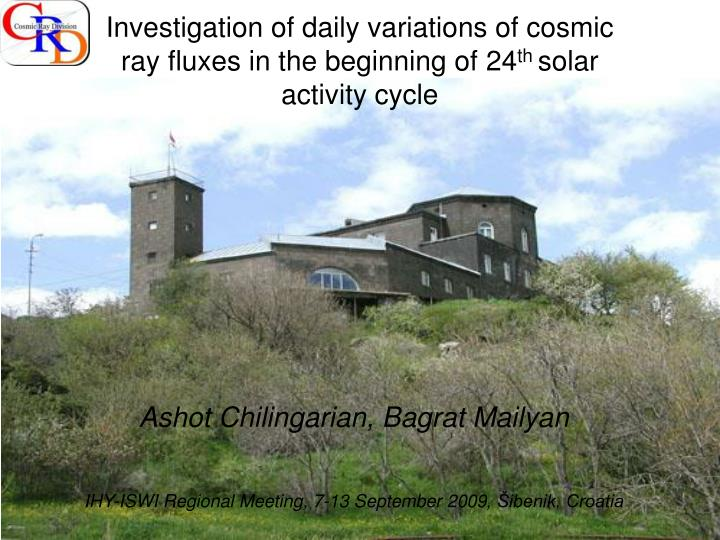 Investigation of daily variations of cosmic ray fluxes in the beginning of 24