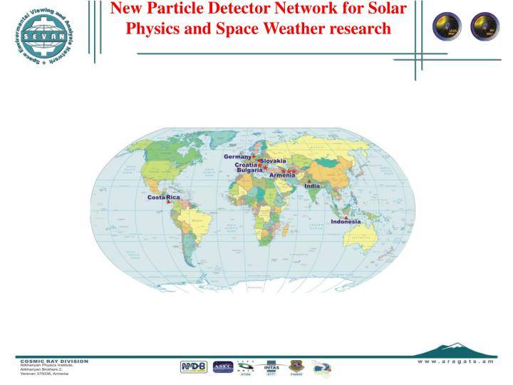 New Particle Detector Network for Solar Physics and Space Weather research