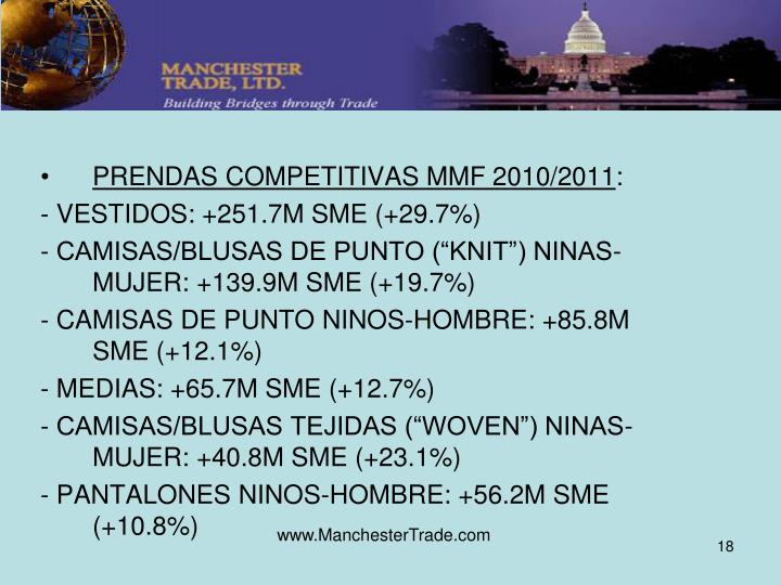 PRENDAS COMPETITIVAS MMF 2010/2011
