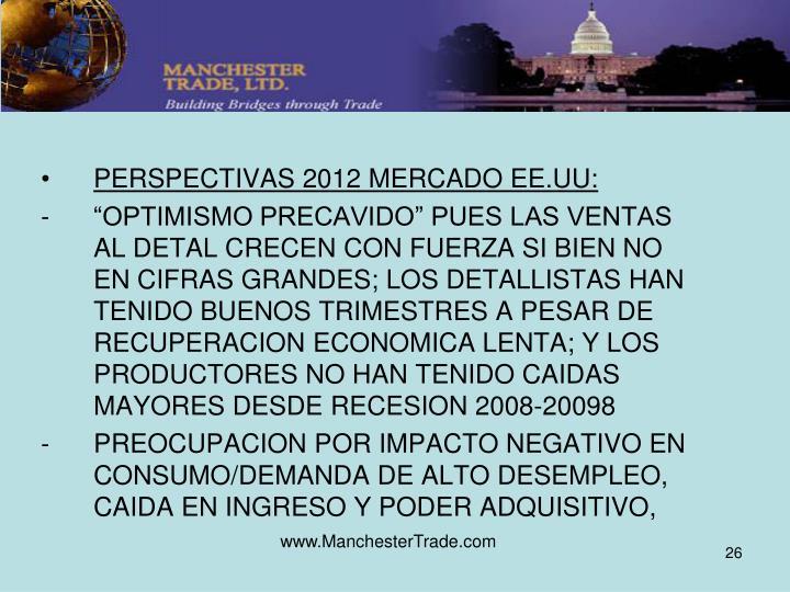 PERSPECTIVAS 2012 MERCADO EE.UU: