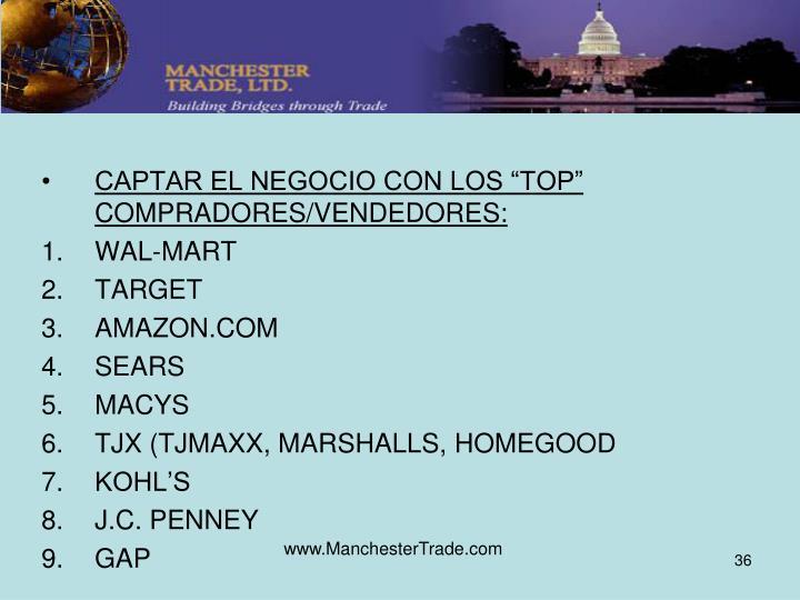 """CAPTAR EL NEGOCIO CON LOS """"TOP"""" COMPRADORES/VENDEDORES:"""