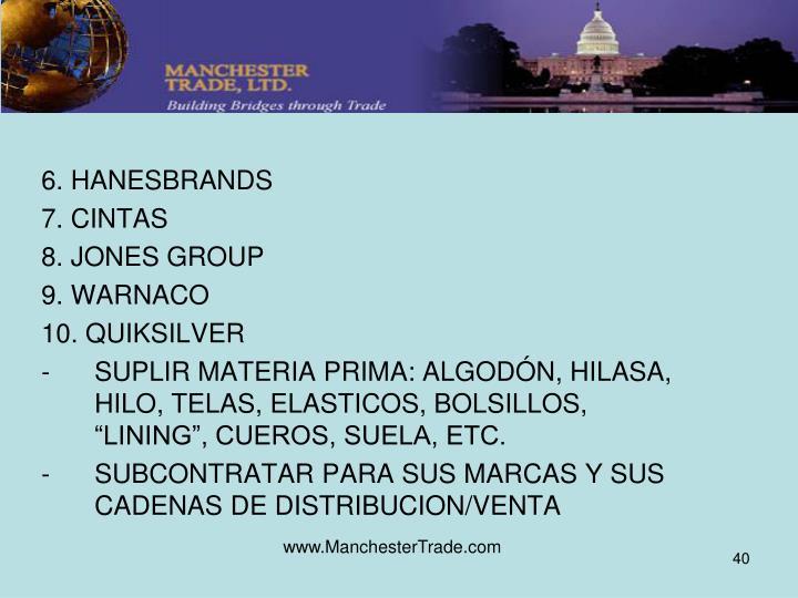 6. HANESBRANDS