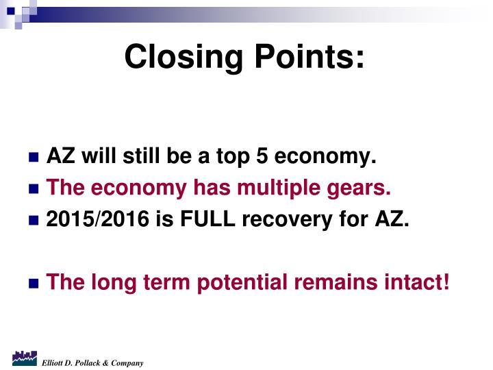 AZ will still be a top 5 economy.