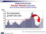 single family permits greater phoenix 1975 2016 source rl brown elliott d pollack company