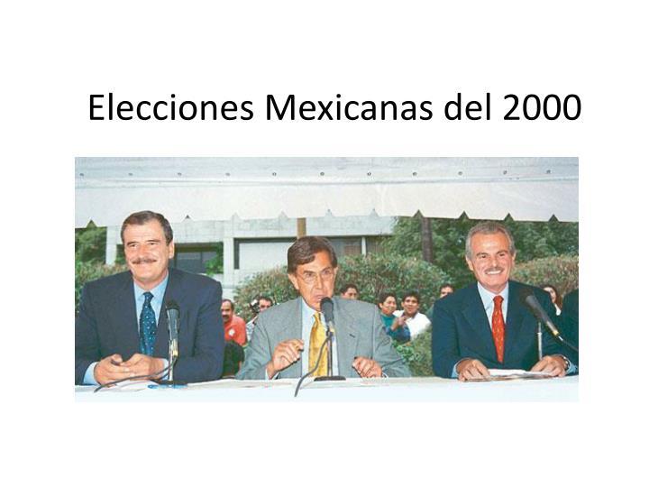 Elecciones Mexicanas del 2000