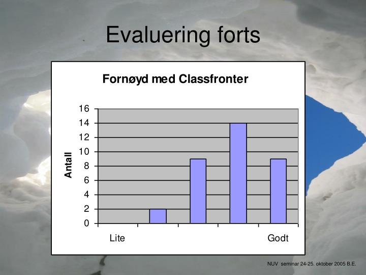 Evaluering forts