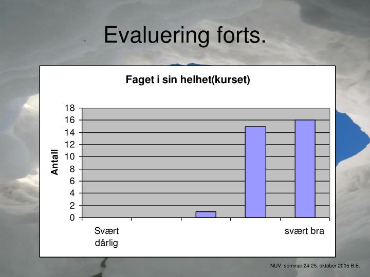 Evaluering forts.