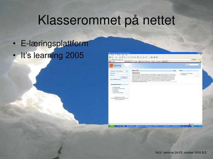 E-læringsplattform