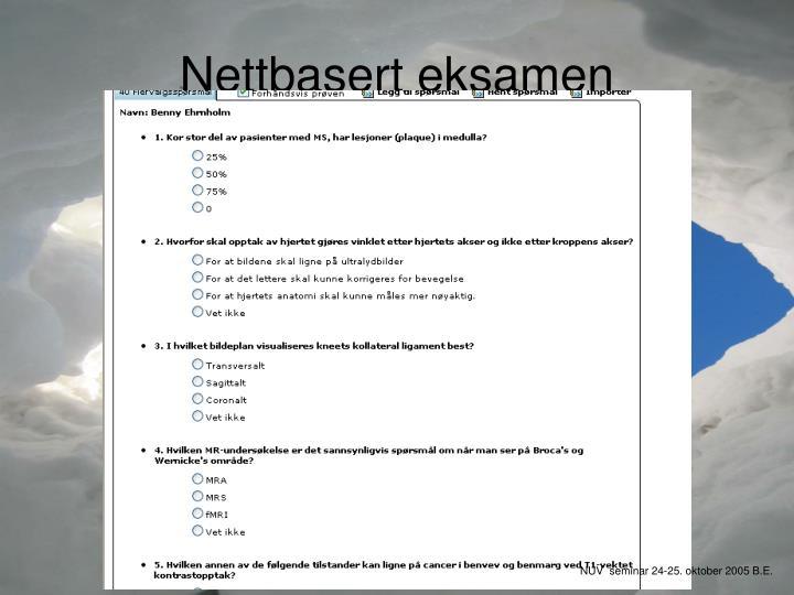 Nettbasert eksamen