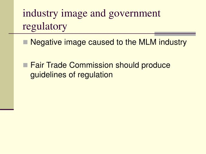 industry image and government regulatory
