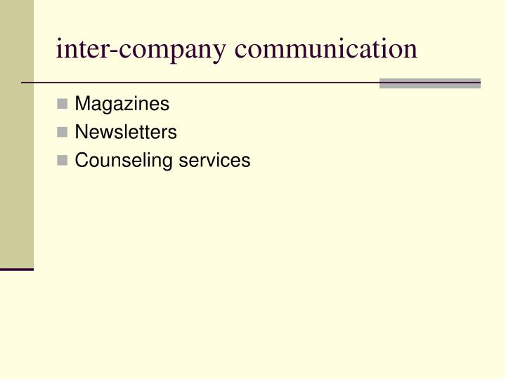inter-company communication
