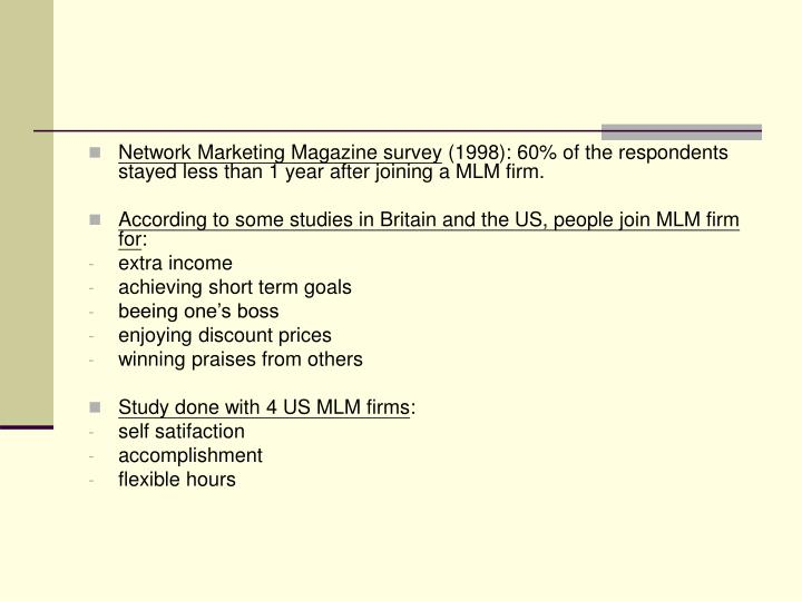 Network Marketing Magazine survey