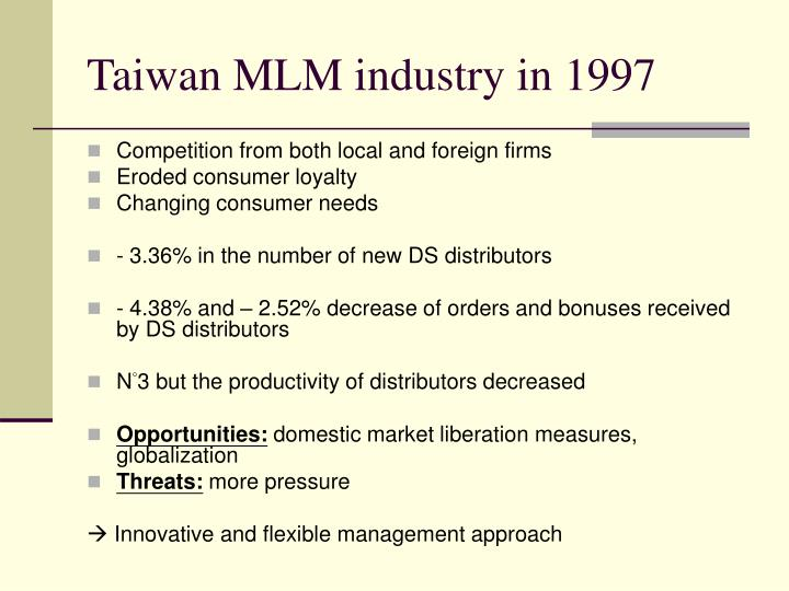 Taiwan MLM industry in 1997