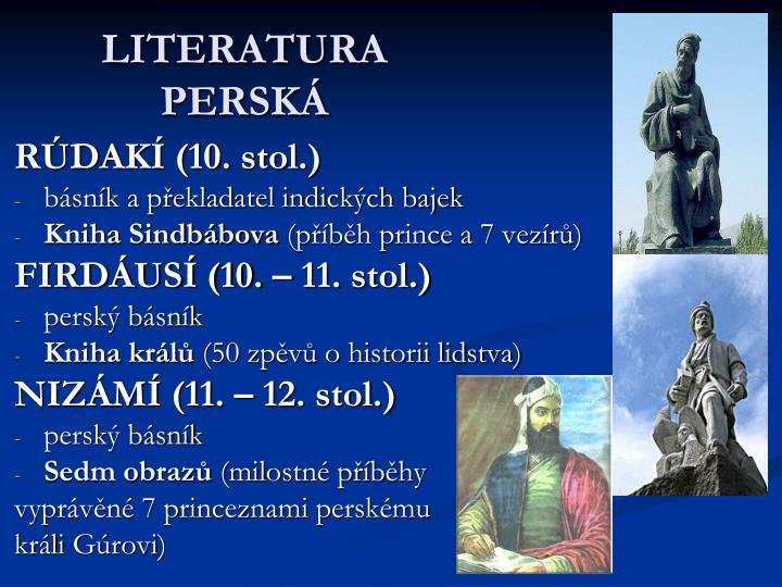 LITERATURA PERSKÁ
