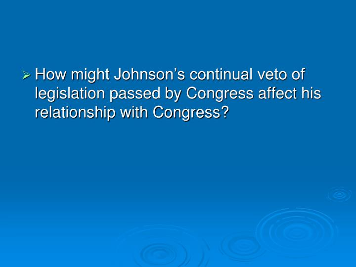 andrew johnson relationship with congress