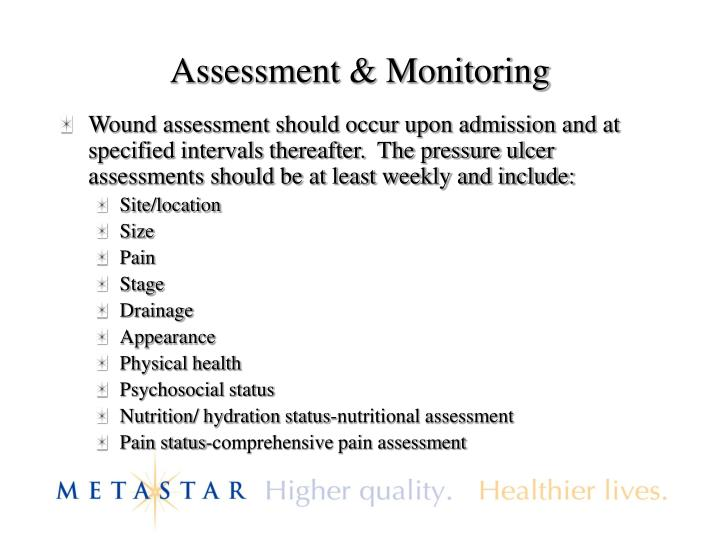 Assessment & Monitoring