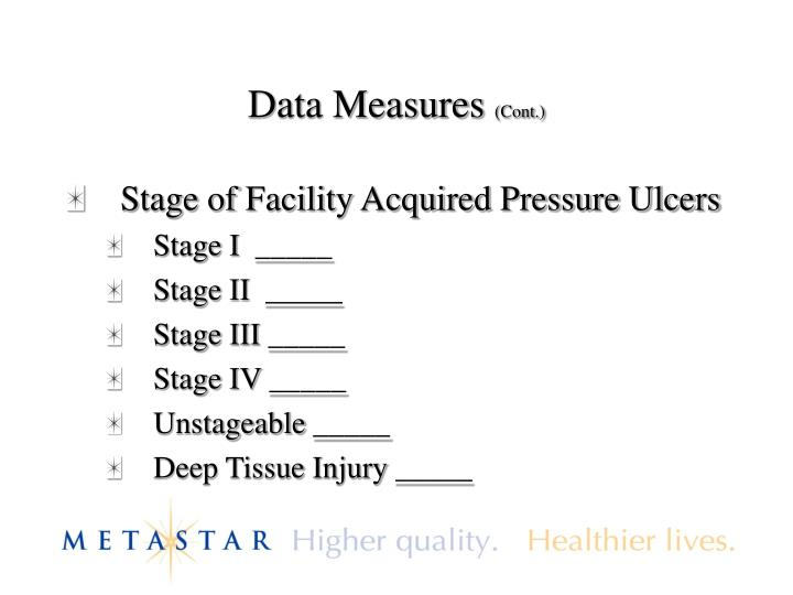 Data Measures