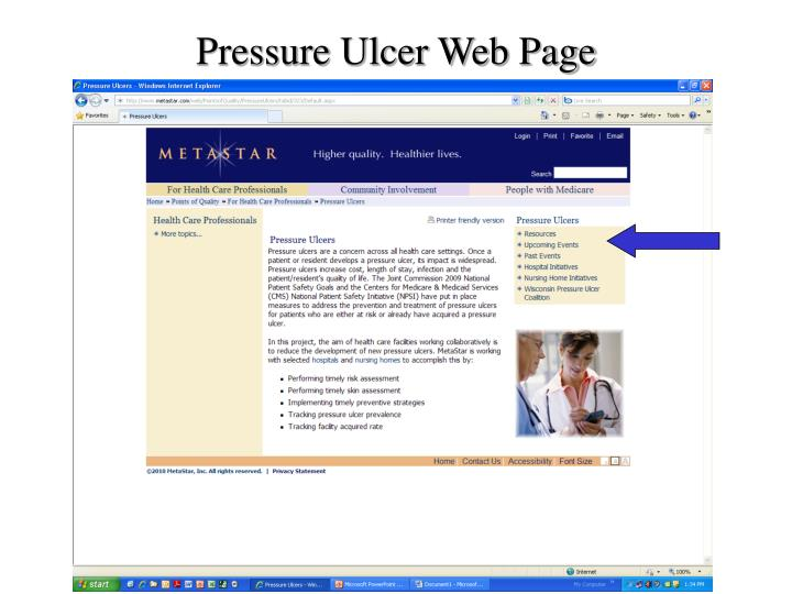 Pressure Ulcer Web Page