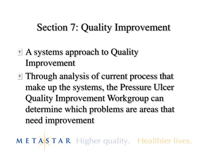 Section 7: Quality Improvement
