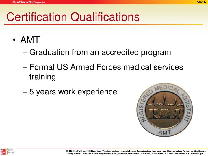 Certification Qualifications