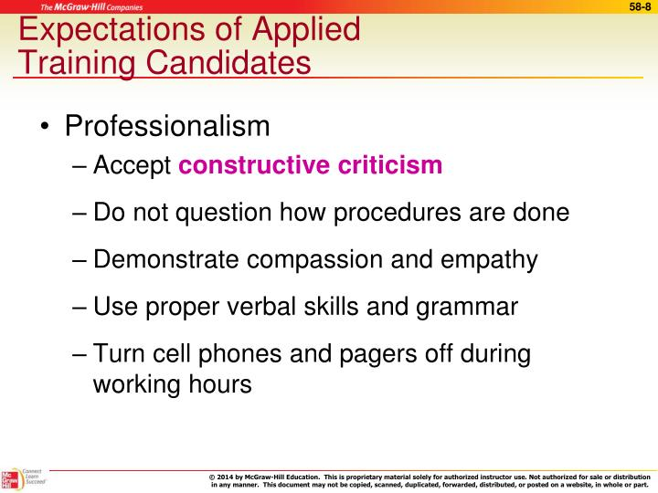 Expectations of Applied